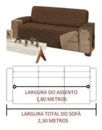 Vende-se capa protetora para sofá só de 3lugares King  dupla face .