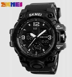 Título do anúncio: Relógio Masculino SKMEI 1155 Black S-shock Tático A Prova D'água 1155b ENTREGA GRÁTIS*