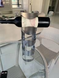 2 suportes para vinho de aço inoxidável escovado NOVO