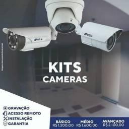 Kit câmeras de segurança para residência ou comércio  ( Qualidade comprovada )