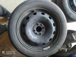 Roda 4 furos aro 15 servem linha Fiat, Volkswagen, GM