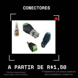 Título do anúncio: Conectores Bnc mola e P4
