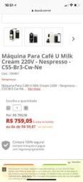 MÁQUINA DE CAFÉ NESPRESSO UMILK CREAM 19bar