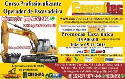 Curso para Operador de Escavadeira Hidráulica Inicio 05-11-2018 Fone (98)98741-8404