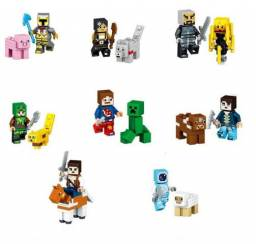 Kit Minecraft Lego 16 personagens + entrega