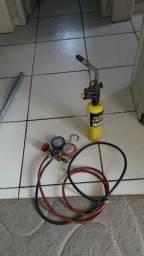 Maçarico e manometro de ar condicionado 300,00 comprar usado  Biguaçu