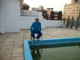 Alugo apto 1 qda do mar,com piscina terraço, centro de capão.f; *
