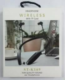 Fone de ouvido Bluetooth mp3 - Novo