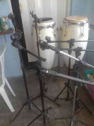 Suporte Pedestal para Microfone + Cachimbo<br>