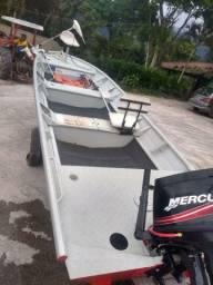 barco  2018 plataformado com motor mercury 40 hp