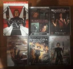 Box 5 DVDs Resident Evil - muito novo