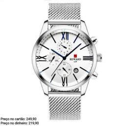Relógio masculino importado original Reward cronógrafo premium