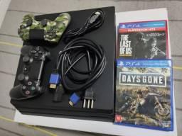PS4 Pro 1Tb + 2 Jogos + 2 controles