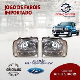 JOGO DE FARÓIS IMPORTADO L-E/L-D  F-250/F-350/F-4000
