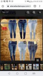 Calças jeans feminina plus