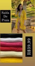 Saída de Praia tricô várias cores