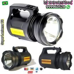 Super lanterna LED T6 Super potente apenas RS 250.00