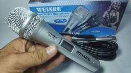 BLACK FRIDAY Microfone Weisre Semi Profissional Com Cabo Ótima Captação DE 60$$ POR 48$$