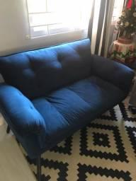 Namoradeira Azul Dois Lugares da Mobly