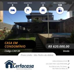 CA0120e - Linda casa duplex no Condomínio Orla Azul