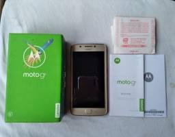 Celular Motorola Le Novo Moto G5 acompanha caixa, manual e nota fiscal
