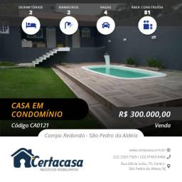 CA0121e - Linda casa com piscina em condomínio fechado