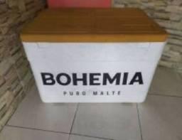 Caixa de isopor da Bohemia Patrocínio de qualquer festa