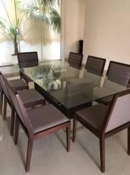 Mesa de vidro 8 cadeiras