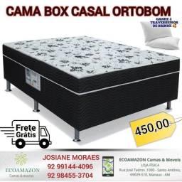 CAMA BOX CASAL ORTOBOM ESPUMA PROMOÇÃO