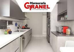 Título do anúncio: Cozinha com Quartzo Branco e Quartzo Cinza!