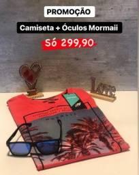 Óculos de Sol + Camiseta Mormaii - Originais e com Nota Fiscal