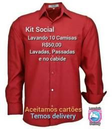 Promoção lavagem de Camisas
