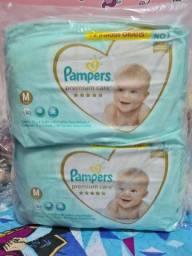 180 Fraldas Pampers Premium Care M