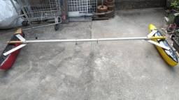 Título do anúncio: estabilizador de fibra para caiaque pesca. fibra com suporte para hunter grátis