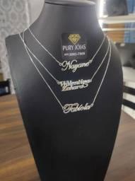 Colares Personalizados de Prata