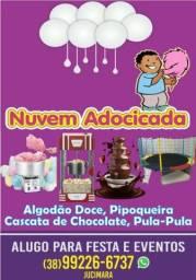 Título do anúncio: Alugo máquina de algodão doce, pipoqueira e cascata de chocolate