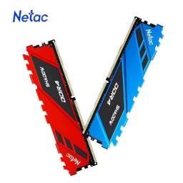 Título do anúncio: Memória Ram DDR4 16Gb 3200 Mhz Com Dissipador - Netac