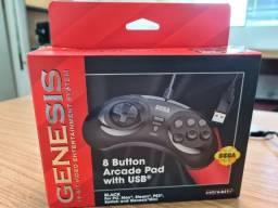 Controle de 8 botões retro-bit usb para mega drive/genesis mini e pc