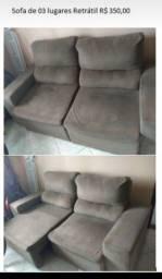 Título do anúncio: Sofa retrátil 3 lugares