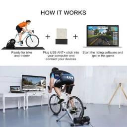 Sensor ANT+ USB para jogo de ciclismo Garmin e outros