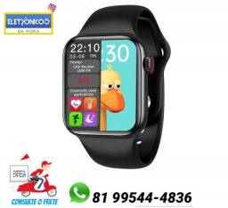 Relógio inteligente Smartwatch hw12 40mm troca pulseira Cor preto só zap