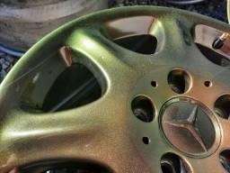 Jogo de rodas R16 Original Mercedes, furação 5x112 tala 8. Pintura nova, camaleão.
