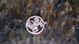 Pingente de prata São Jorge