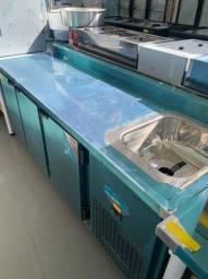 Balcãode serviço refrigerado com cuba para organizar melhor sua cozinha