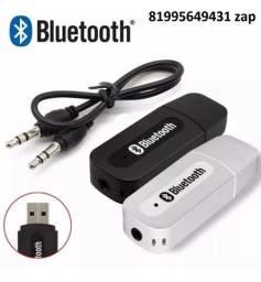 Adaptador Receptor Bluetooth Usb P2 Musica Novo