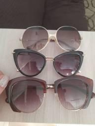 Três óculos femininos de sol
