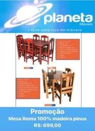 Título do anúncio: MESA ROMA 100% MADEIRA PINUS // AQUÁRIO AQUÁRIO