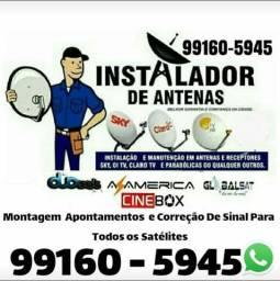 Título do anúncio: Instalador de antenas Uberlândia