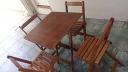 Título do anúncio: Mesas e cadeiras dobráveis