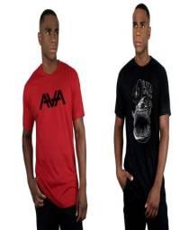 Kit 6 Camisas Camisetas Masculinas Homem Gola Redonda Curta